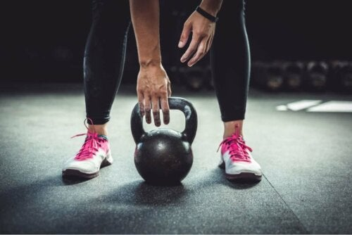 A person lifting weights.