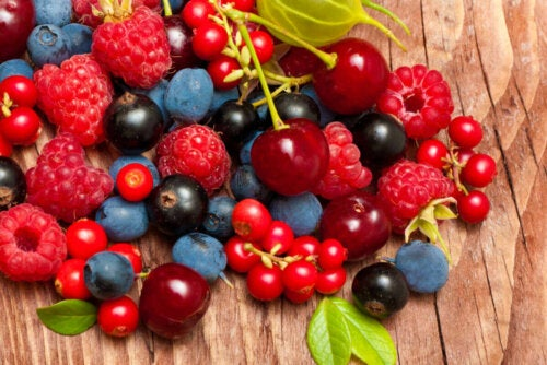 An array of berries.