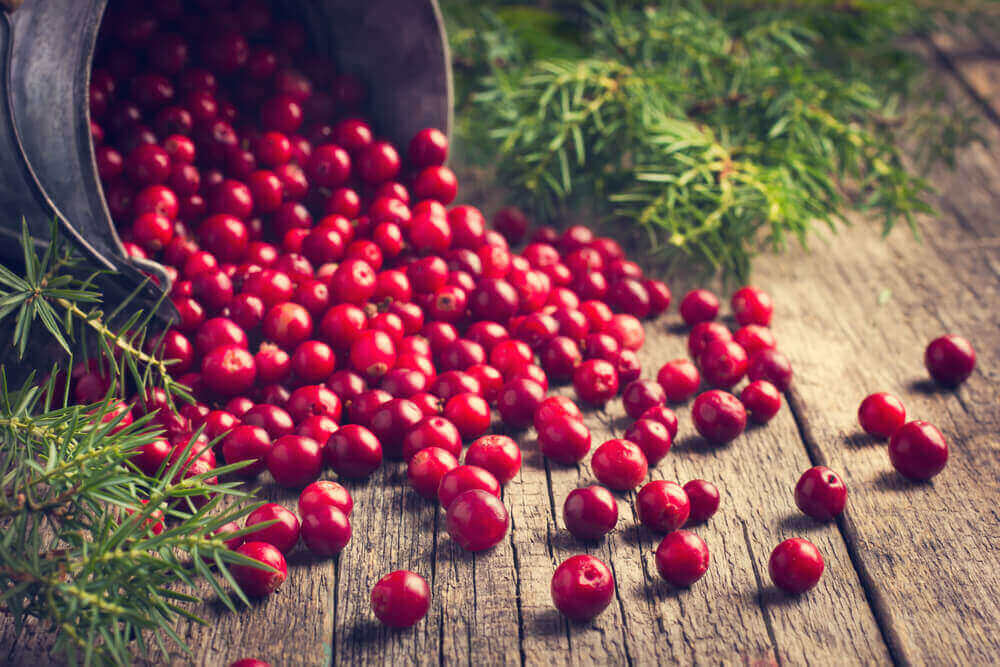 Cranberries contain antioxidants.