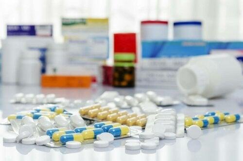 Different types of antibiotics.