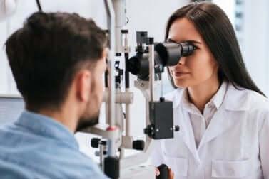 A professional eye exam.