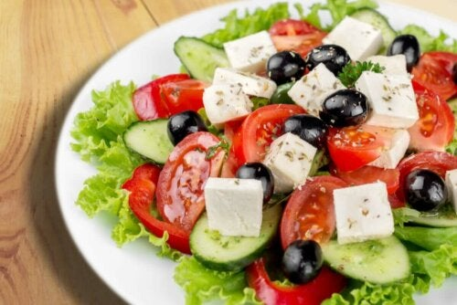 Feta cheese salad.