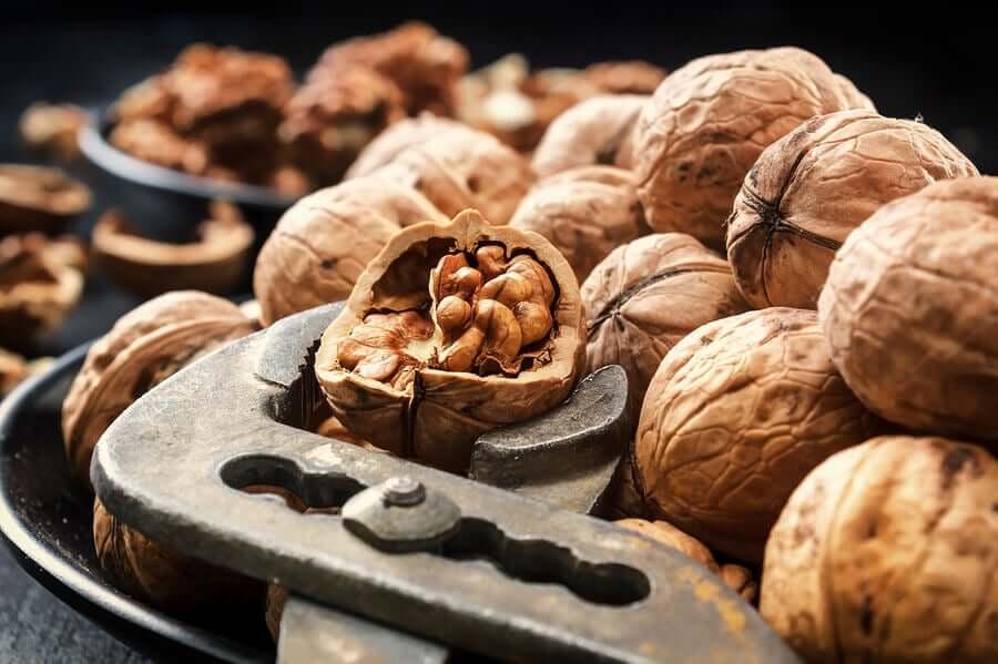A nutcracker opening walnuts.