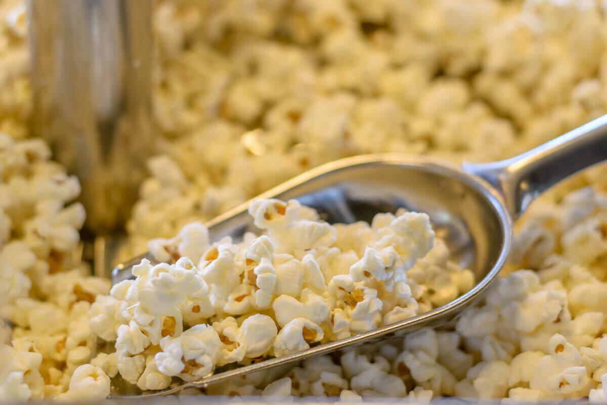 Commercial popcorn is not healthy.