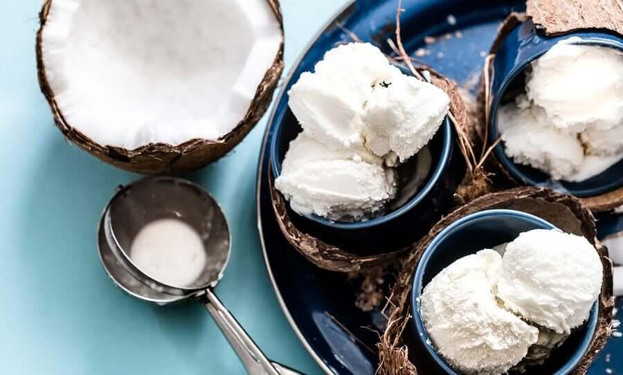 Coconut milk ice cream.