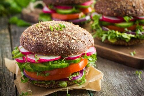 A vegan burger.