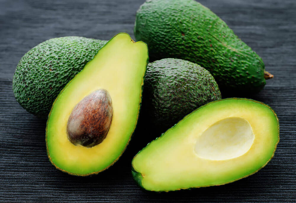 Avocado for naturally dry hair.