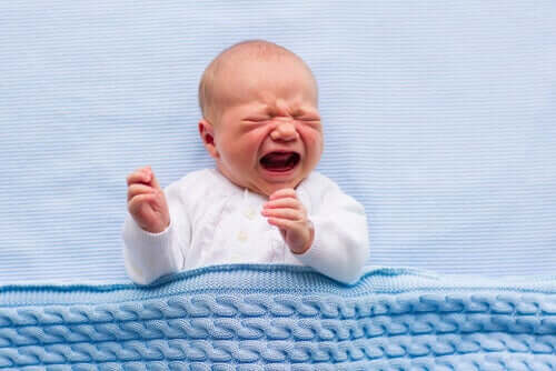 Baby crying very loudly.