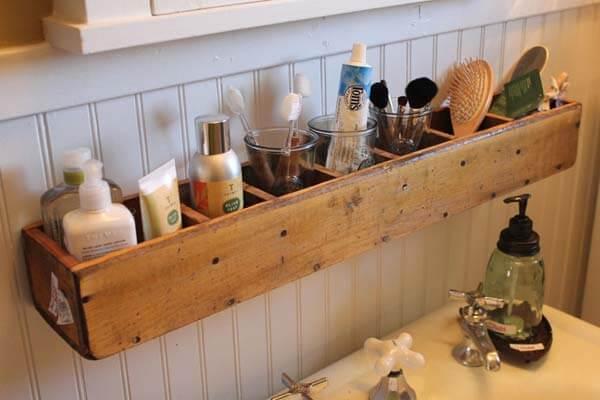 Bathroom organizer.