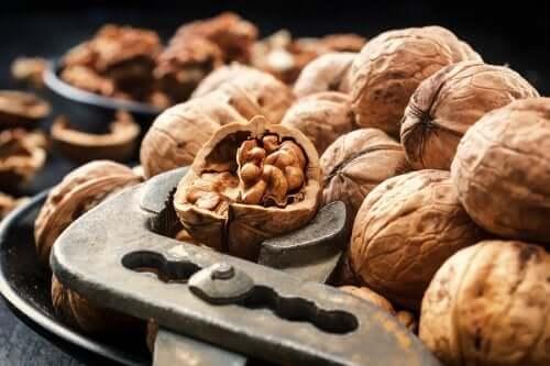 A few walnuts.
