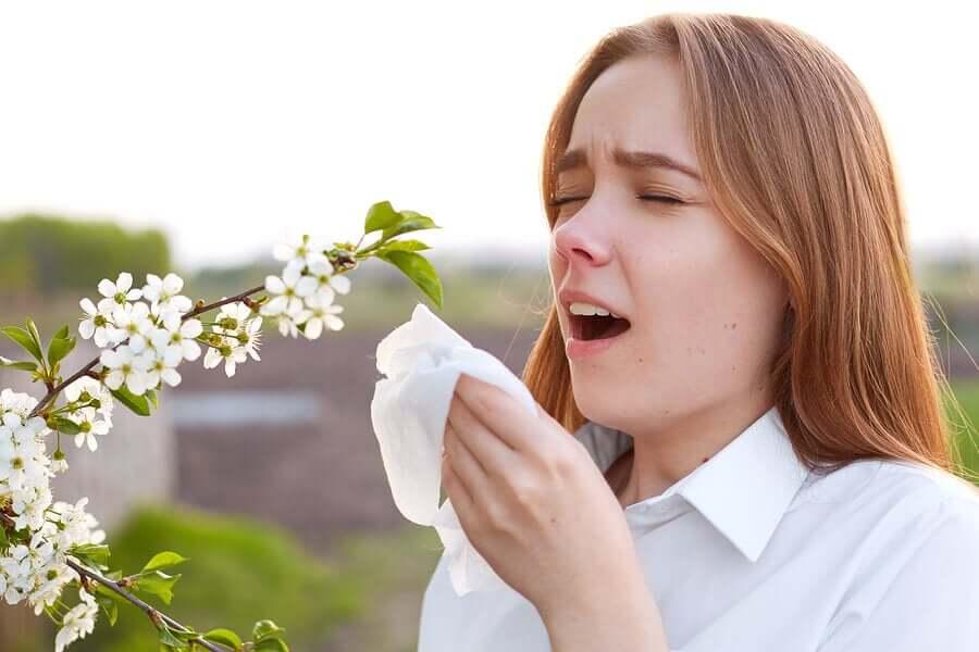 Pollen allergies.