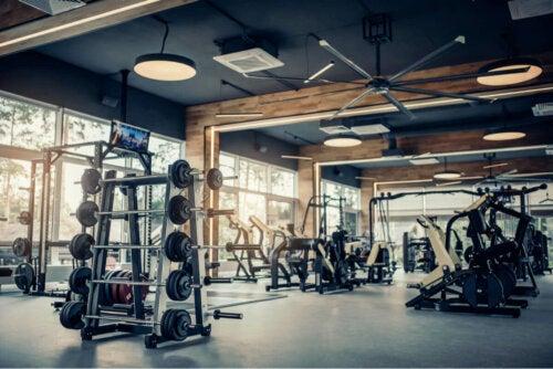 An empty gym.