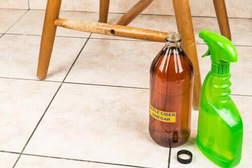 Vinegar for wood floors.