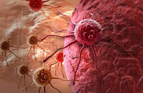 Cancerous cells attacking the body.