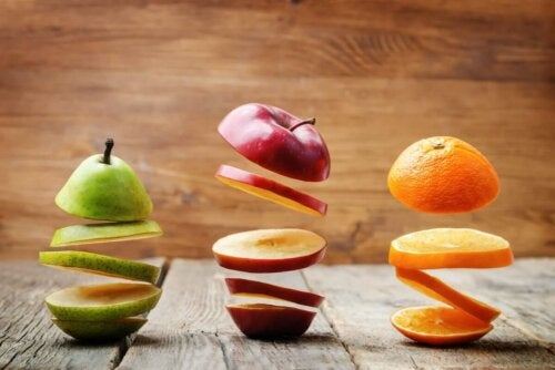 Different fruits.