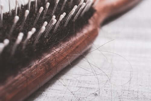 A brush with loose hairs.