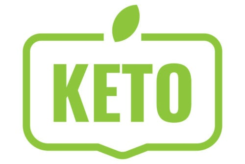 "The word ""keto"" in green."