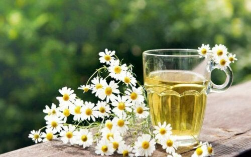A cup of chamomile tea.