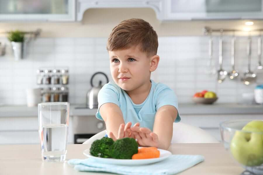 Child with Picky Eater Syndrome.