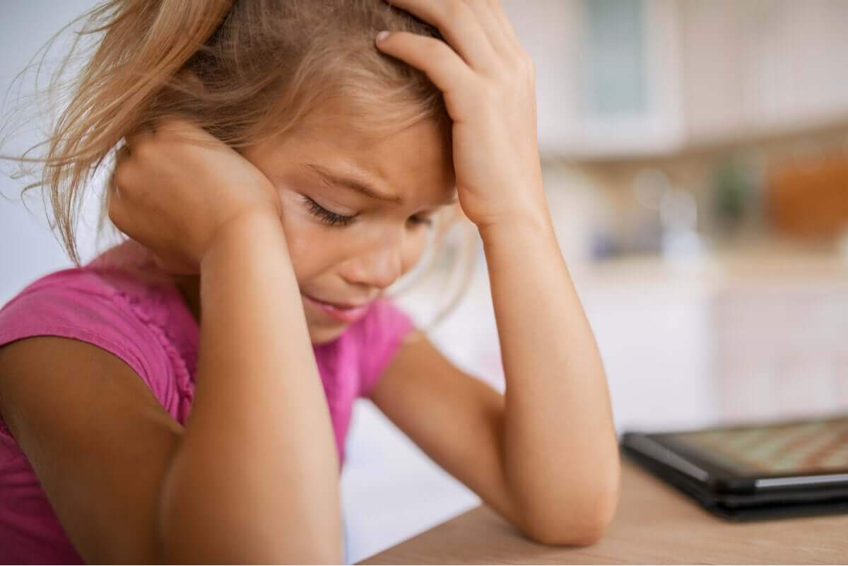A child with learned helplessness.