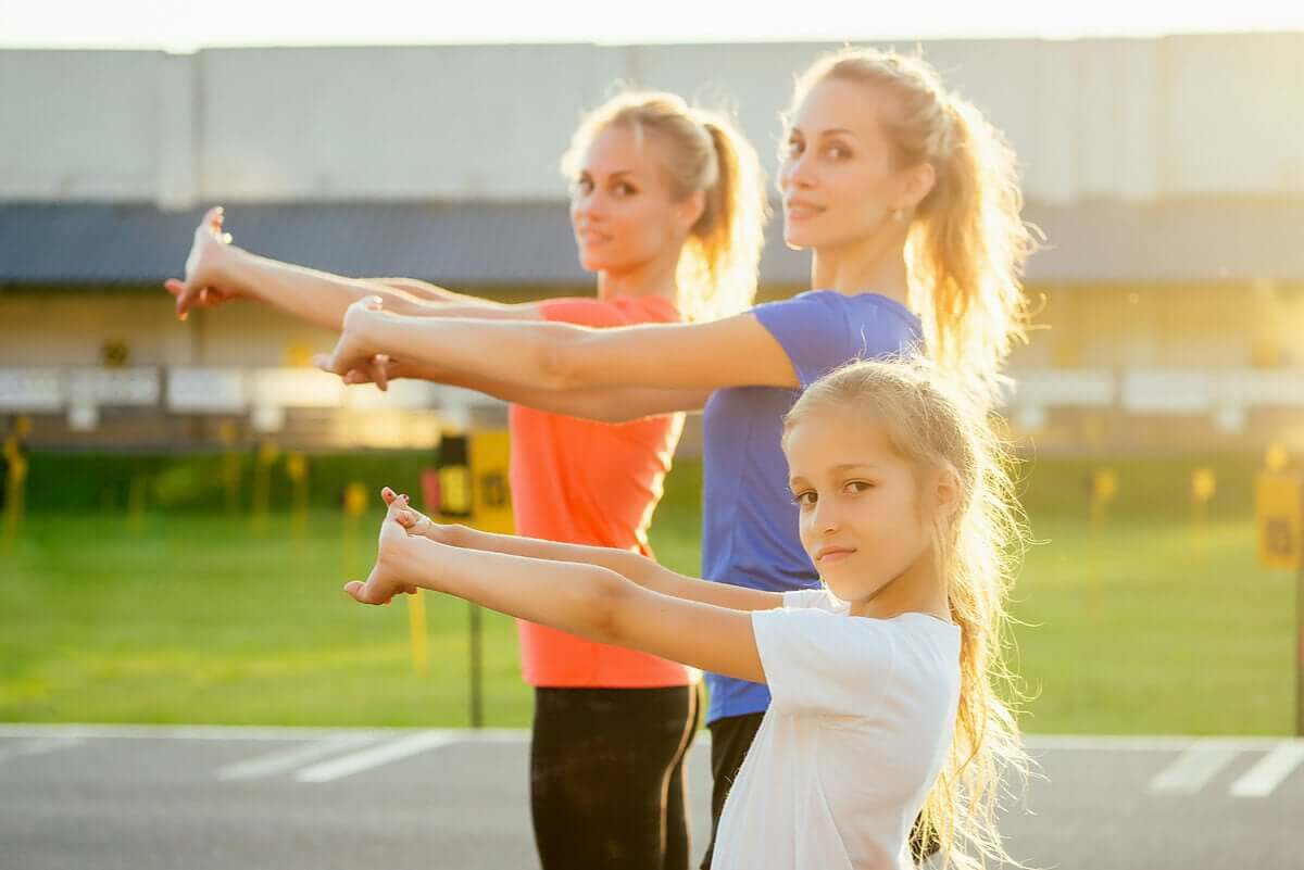 Crossfit exercises for kids.