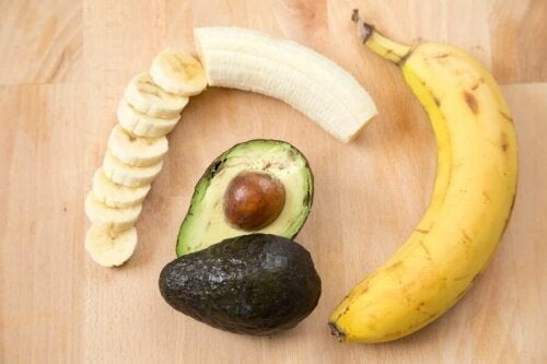 Banana and avocado.