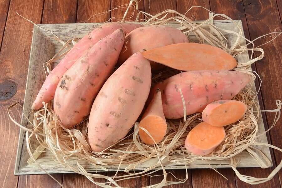 Sweet potatoes are rich in potassium.