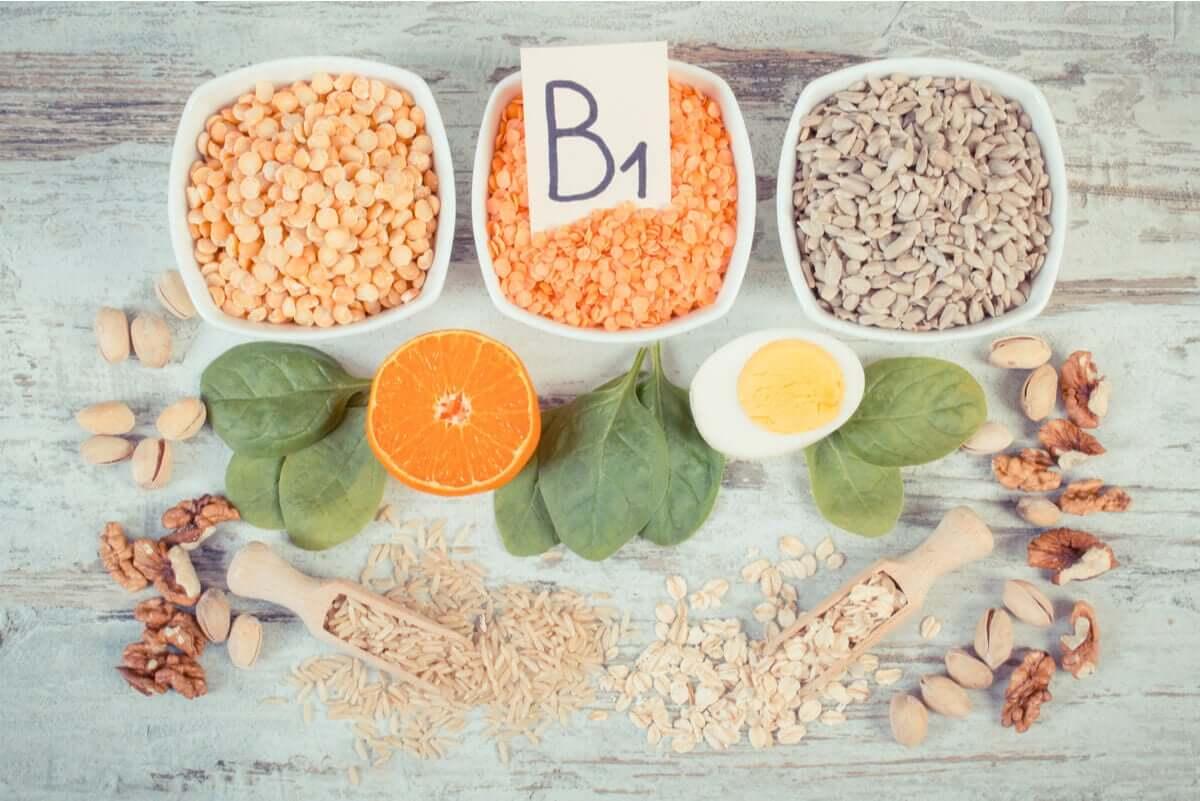 Vitamin b1 in food.