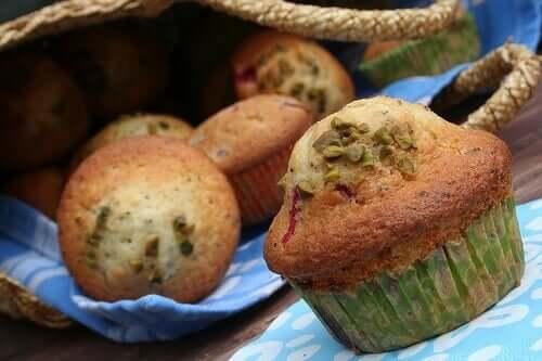 An assortment of fruity muffins.