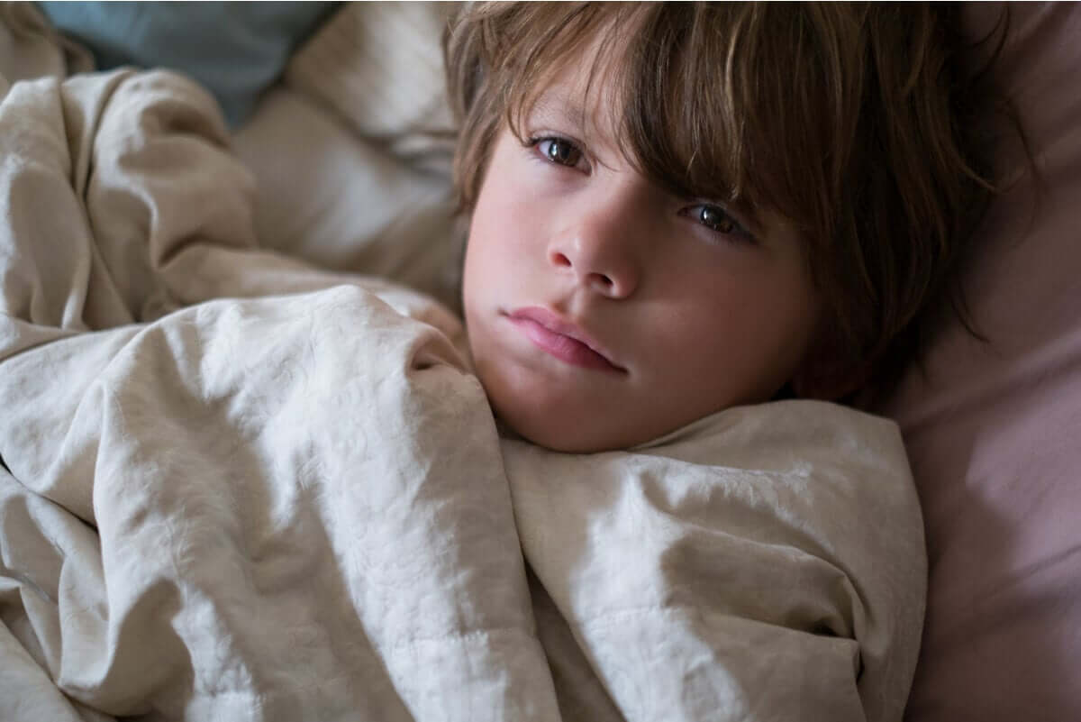 Sleeplessness can produce dark circles under the eyes of children.