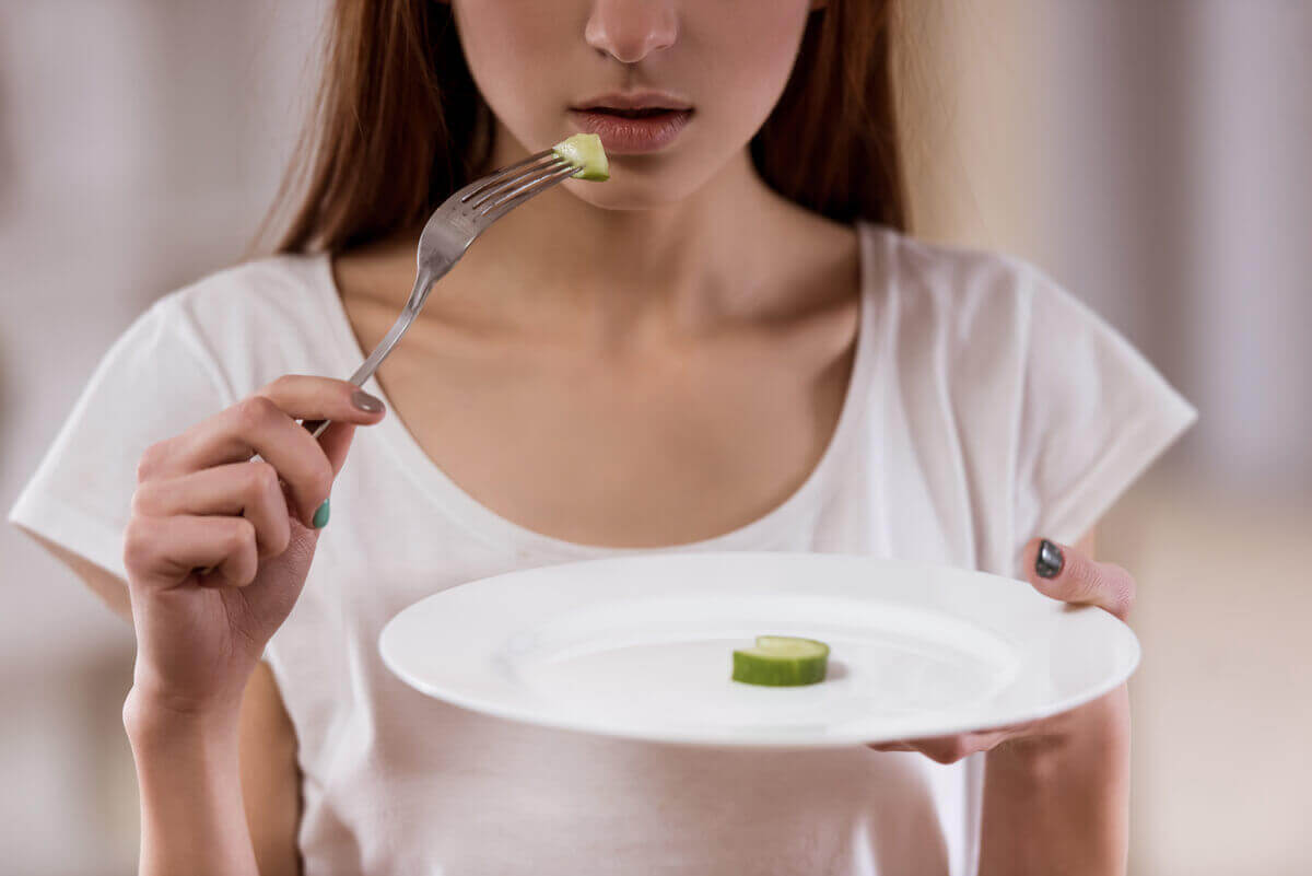 Restrictive diet to stop eating.