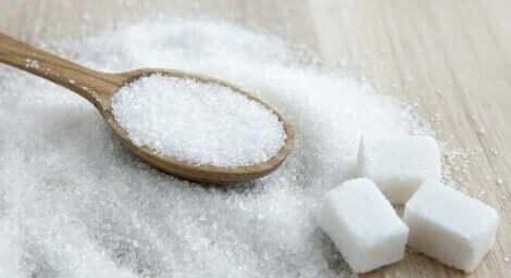 Sugar on a table.