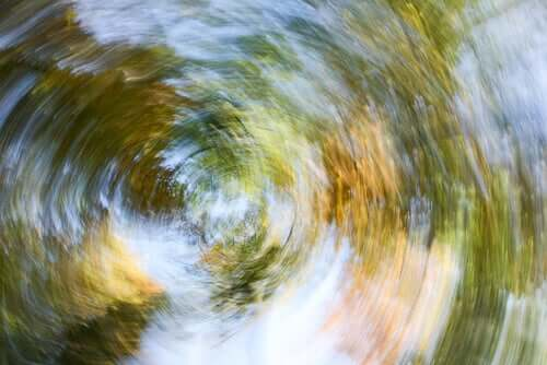 The perspective of a dizzy person.