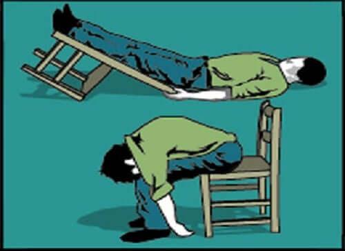 A man fainting.