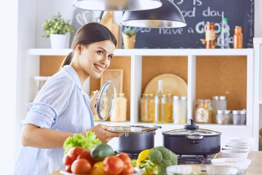 Cooking foods completely helps to prevent food poisoning.