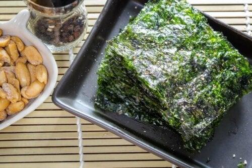 Seaweed on a dish.