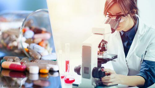 A researcher studying antidepressant drugs.