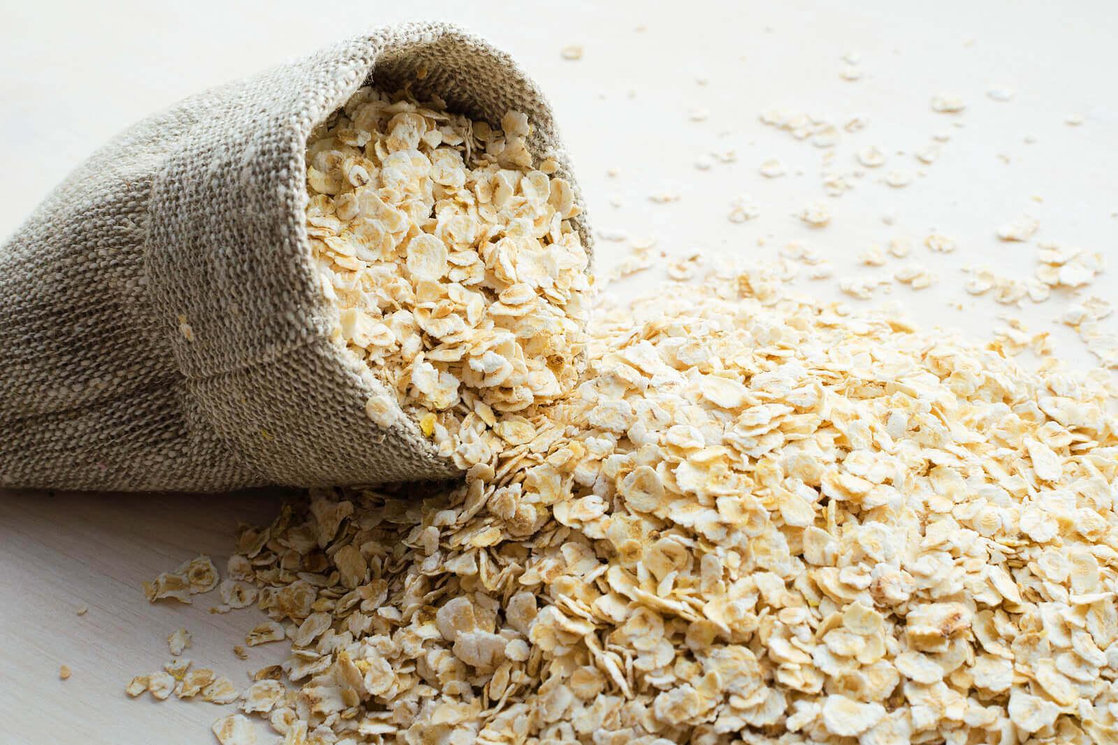 A sack of oats.