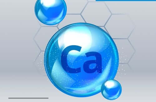Molecular structure of calcium carbonate.