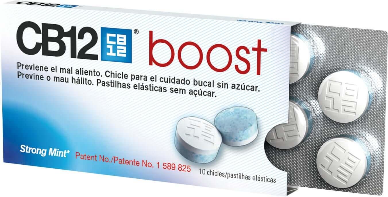 A pack of CB12 boost gum.