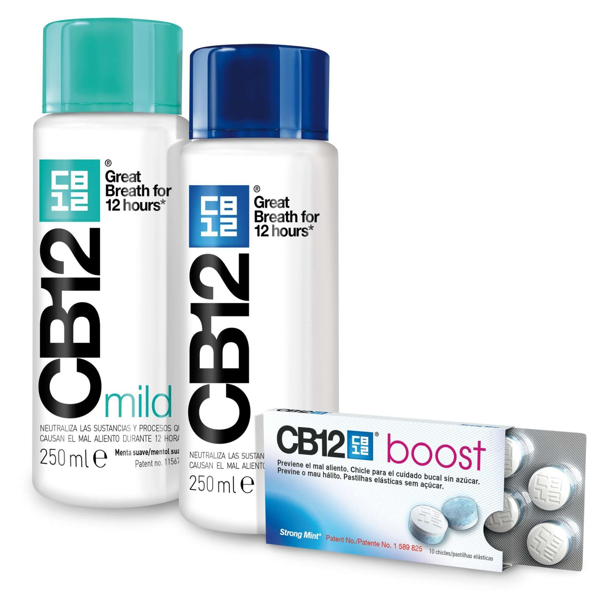 CB12 boost gum and mouthwash.
