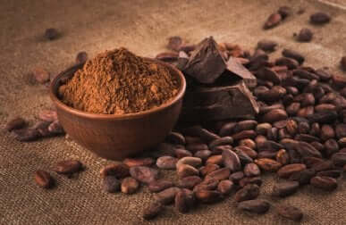 Cocoa beans and powder.
