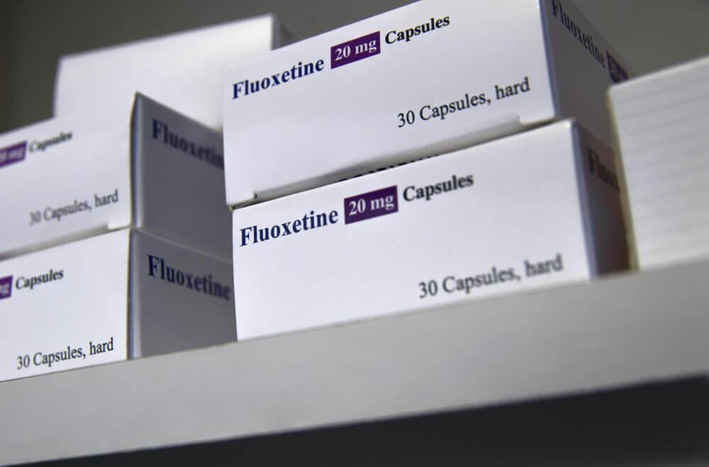 Fluoxetine boxes.