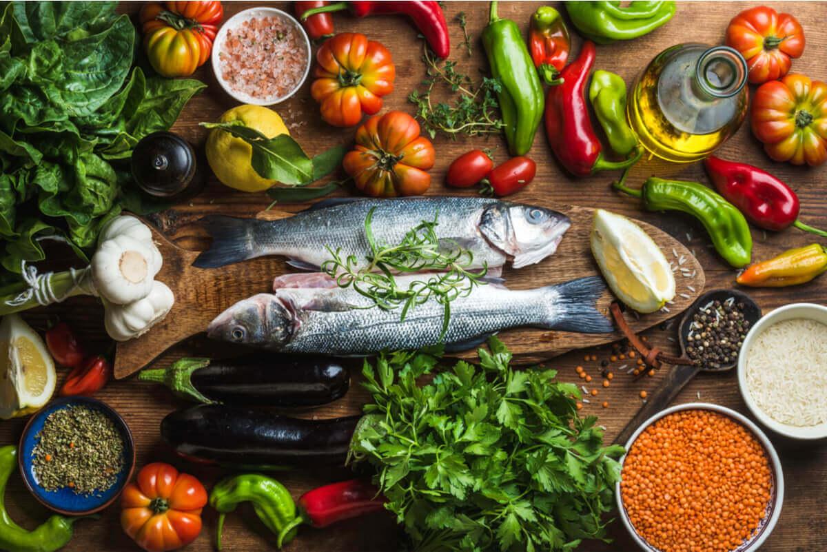Parts of the mediterranean diet.