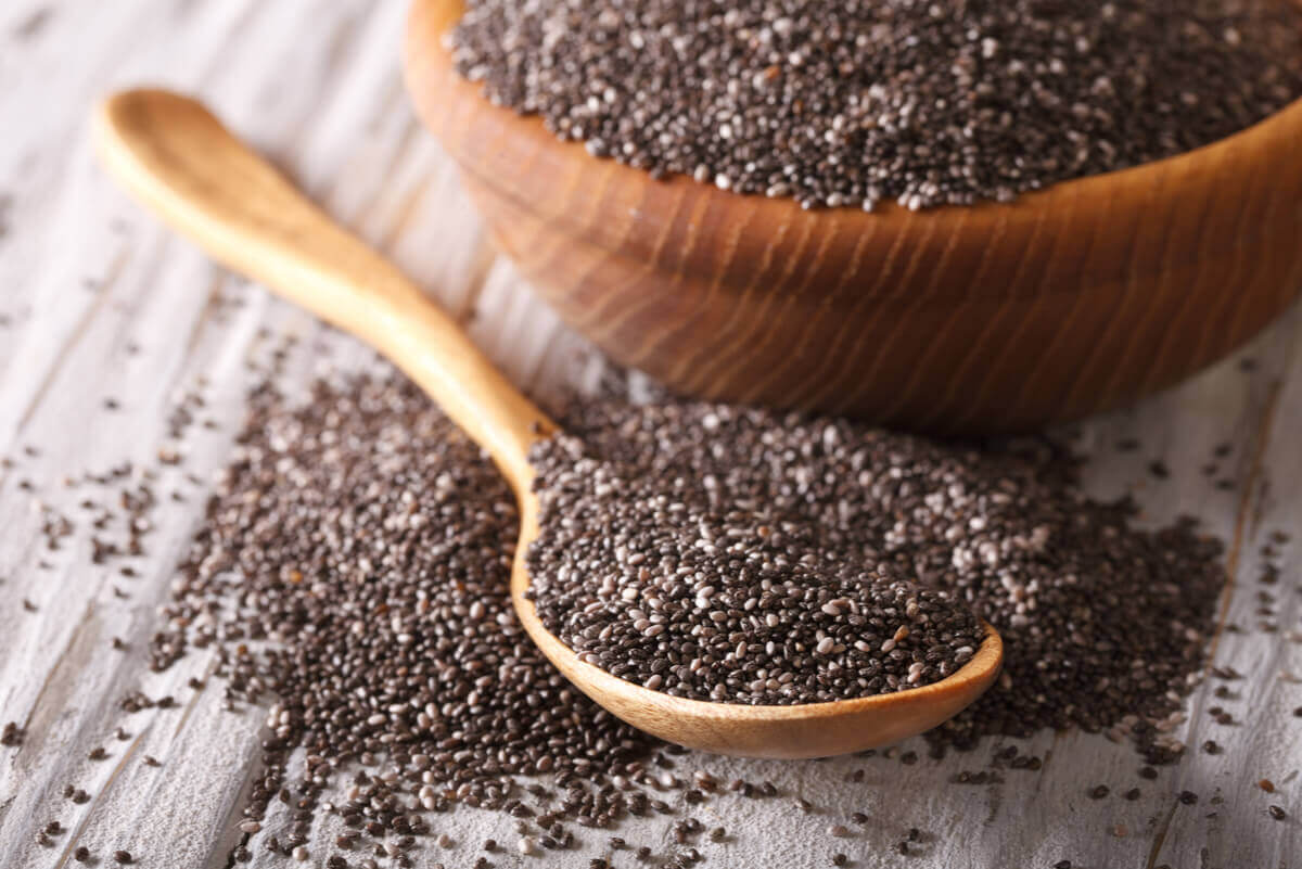 Chia seeds are darker in color than flax seeds.