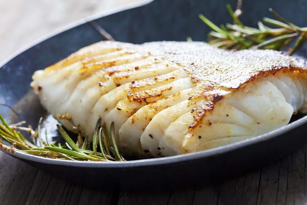 A fatty fish dish.