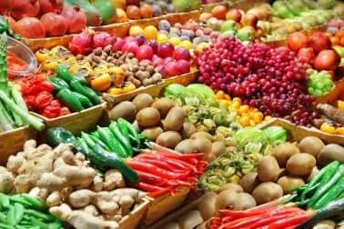 Some fruits and vegetables.
