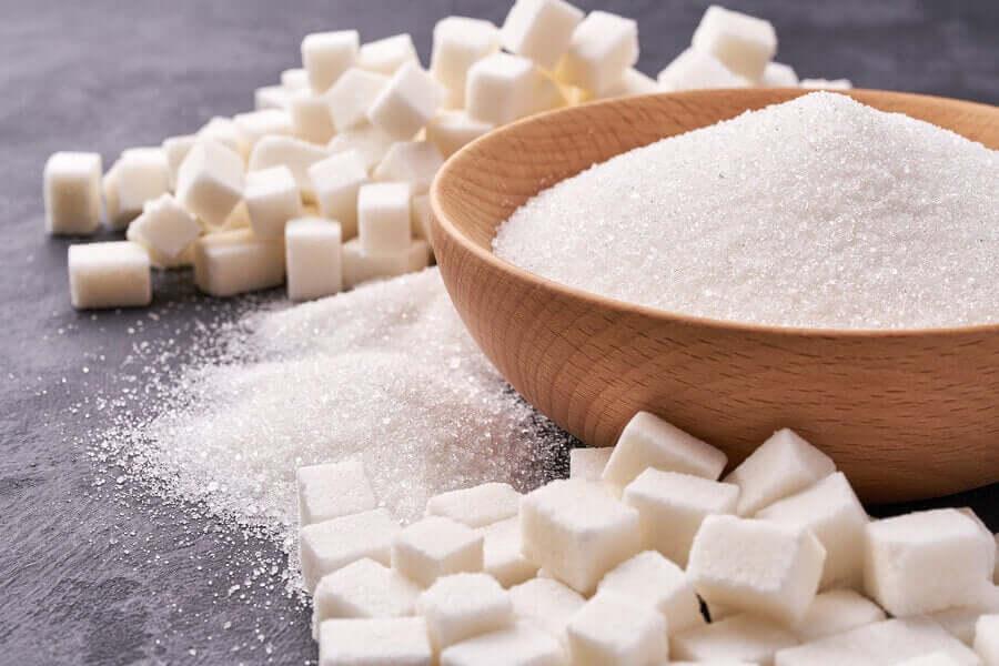 En bolle med sukker som ikke er inkludert i ernæringsbehandling.