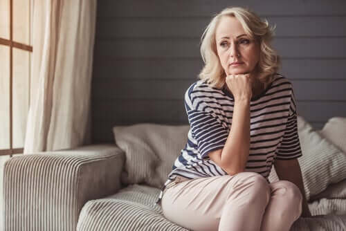 A woman concerned about climacteric and menopause.