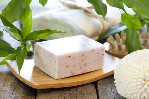 Neutral soap on a table.